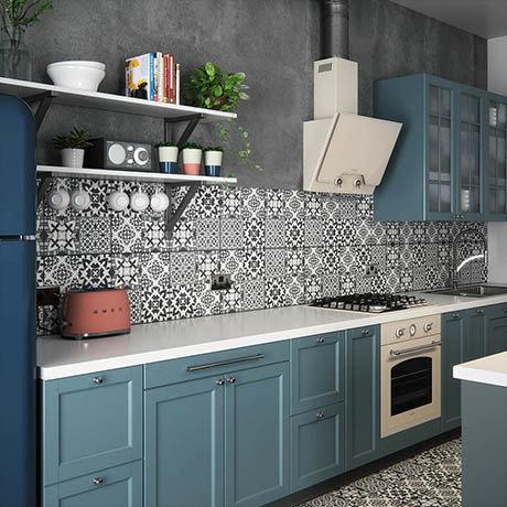 BCT Tiles St Pancras Monochrome Feature Floor Tiles - 331 x 331mm - BCT57581