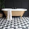 BCT Tiles Feature Floors Stephanie Black Matt Wall & Floor Tiles - 331 x 331mm - BCT57833 Small Imag