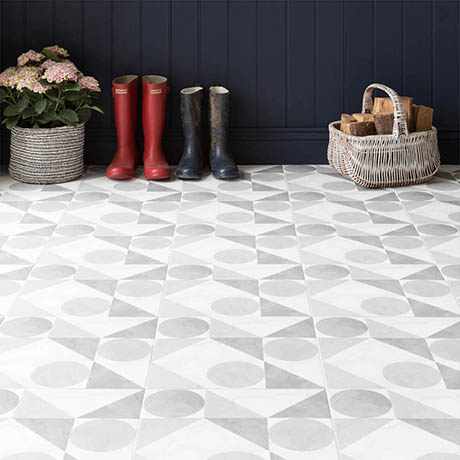 BCT Tiles Feature Floors Samantha Grey Matt Wall & Floor Tiles - 331 x 331mm - BCT57857