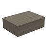 Brooklyn Wall Hung Countertop Basin Shelf with Drawer - Grey Avola - 600 x 450mm profile small image view 1