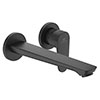 Ideal Standard Silk Black Cerafine O Wall Mounted Basin Mixer profile small image view 1