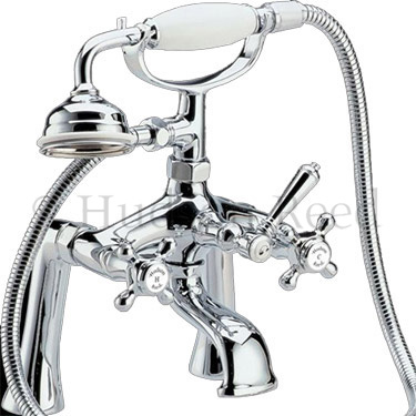 Hudson Reed Jade Freestanding Bath Shower Mixer - Chrome profile large image view 2