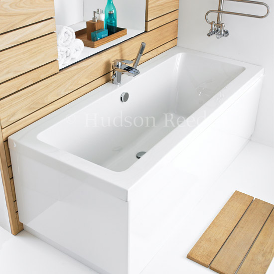 Hudson Reed Deuce Square Double Ended Bath & Legset - Various Sizes  Standard Large Image