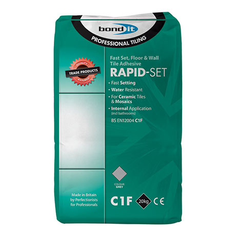 BOND IT RAPID-SET wall & floor Adhesive 20kg - Grey - BDRS20