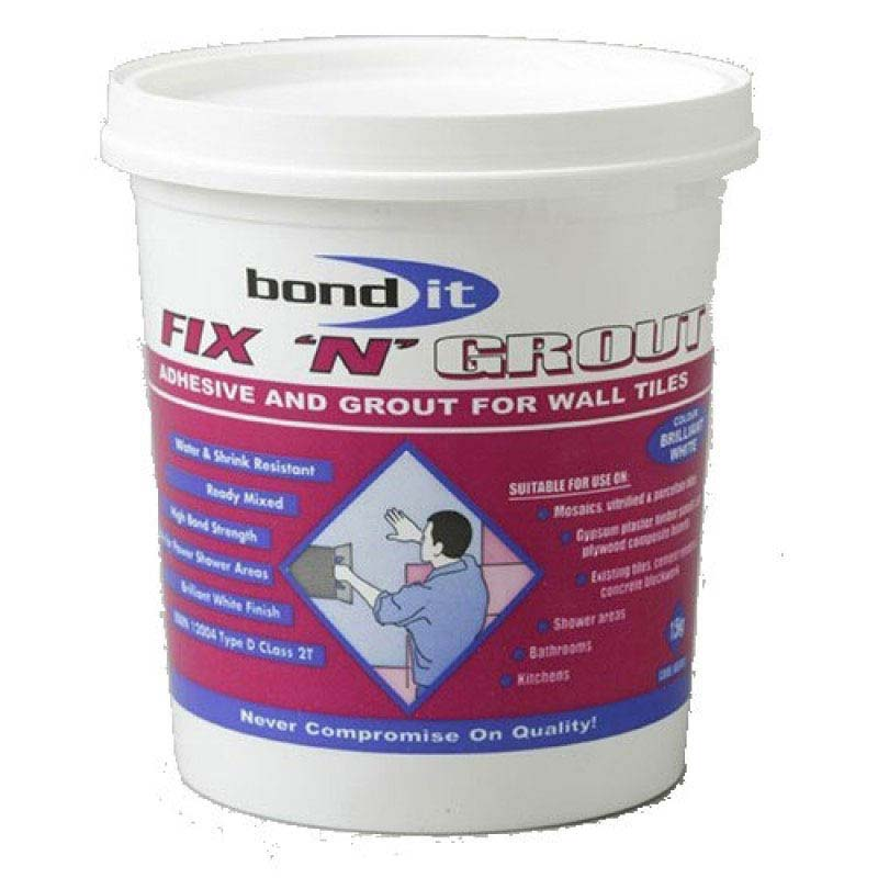 BOND IT Fix 'N' Grout Wall Tile Adhesive Paste profile large image view 1