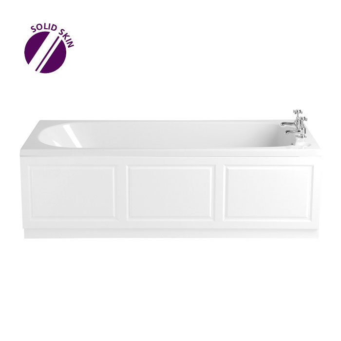 Heritage Dorchester Single Ended Bath with Solid Skin (1700x700mm) Large Image