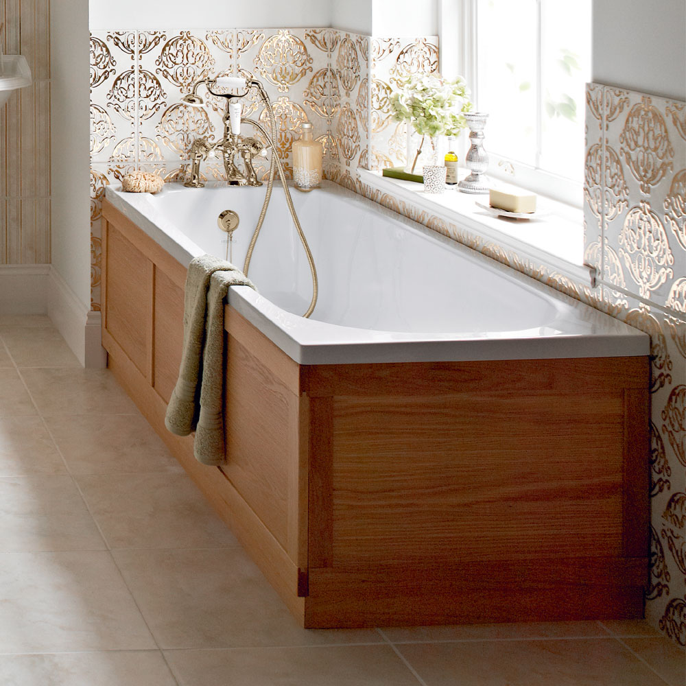 Heritage Dorchester Single Ended Bath with Solid Skin (1700x700mm) Profile Large Image