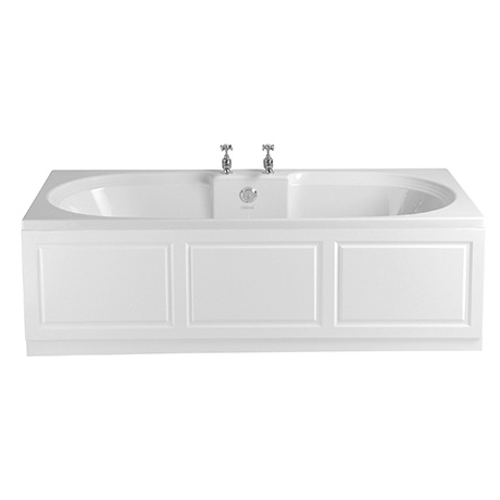 Heritage Dorchester Double Ended 2TH Bath with Solid Skin (1800x800mm)