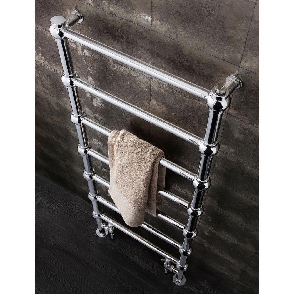 Bauhaus Belle Traditional Chrome Towel Rail - 500 x 1340mm Feature Large Image