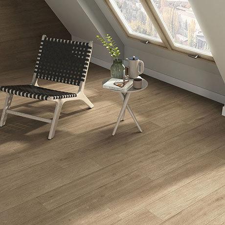 Beacon Walnut Wood Effect Floor Tiles - 200 x 1200mm