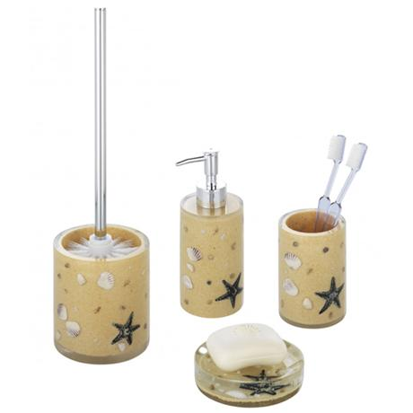 Wenko beach bathroom accessories set beige at victorian for Victorian bathroom accessories set
