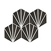 Belmont Hexagon Black with White Lines Wall and Floor Tiles Small Image