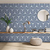 Belmont Hexagon Blue with White Lines Wall and Floor Tiles Small Image