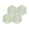 Belmont Hexagon Green with White Lines Wall and Floor Tiles Small Image
