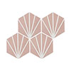 Belmont Hexagon Pink with White Lines Wall and Floor Tiles Small Image