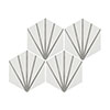 Belmont Hexagon White with Grey Lines Wall and Floor Tiles Small Image
