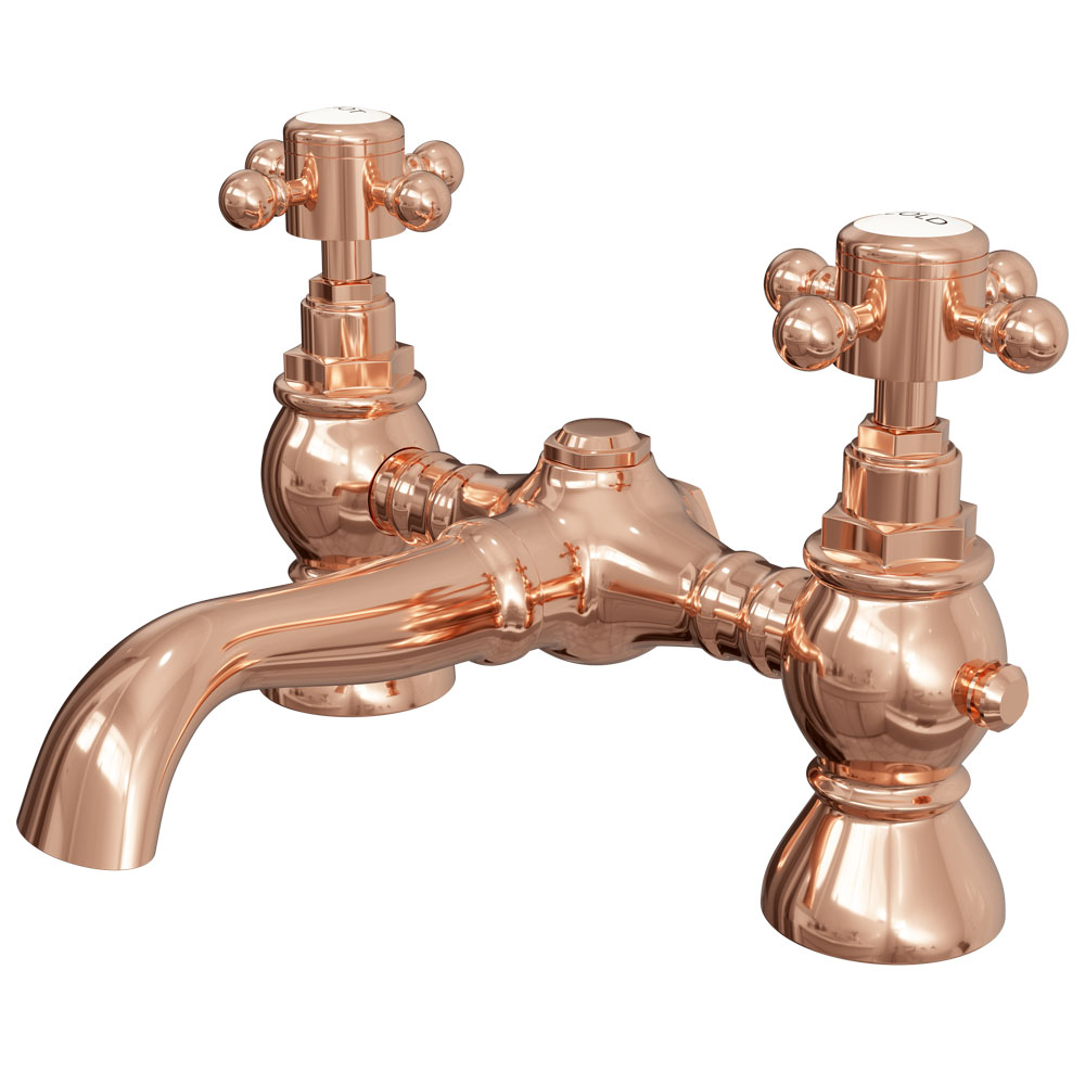 Belmont Rose Gold Traditional Bath Filler Tap