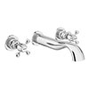 Chatsworth 1928 Traditional Wall Mounted Crosshead Basin Mixer Tap profile small image view 1