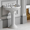 Silverdale Belgravia 635mm Wide Basin with Full Pedestal profile small image view 1
