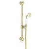Crosswater Belgravia Unlacquered Brass 600mm Slide Rail Handset & Hose profile small image view 1