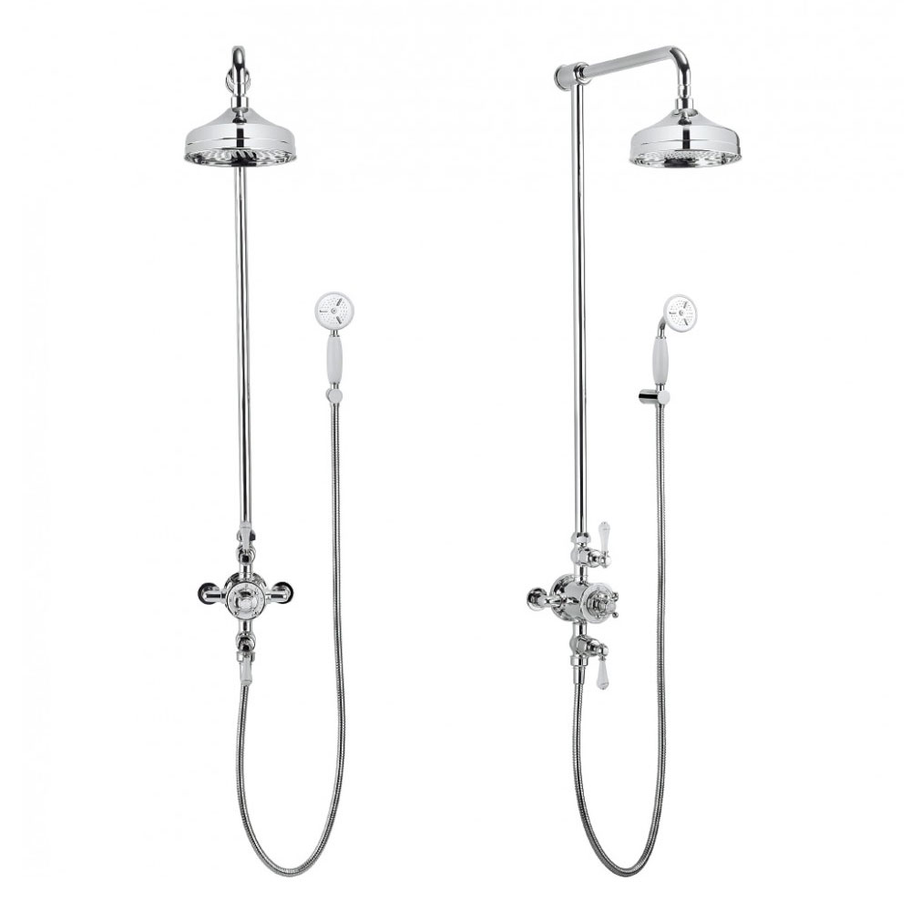 Crosswater - Belgravia Thermostatic Shower Valve with Fixed Head & Handset profile large image view 2