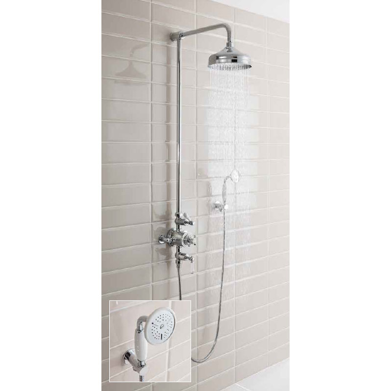 Crosswater - Belgravia Thermostatic Shower Valve with Fixed Head & Handset profile large image view 4