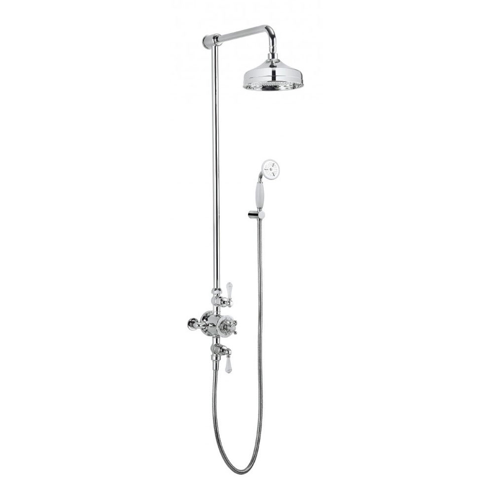 Crosswater - Belgravia Thermostatic Shower Valve with Fixed Head & Handset Large Image