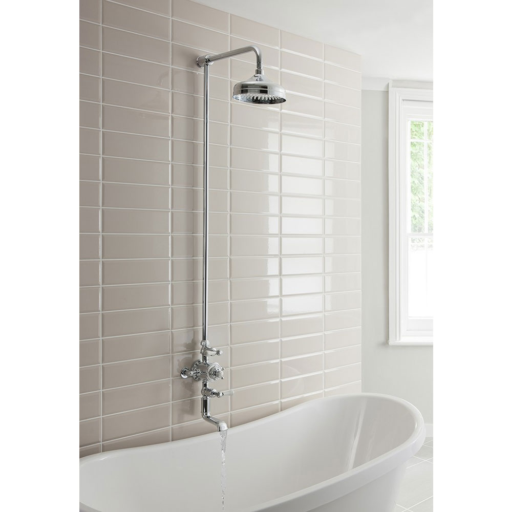Crosswater - Belgravia Thermostatic Shower Valve with Fixed Head & Bath Spout Standard Large Image