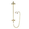 "Crosswater Belgravia Unlacquered Brass Thermostatic Shower Valve with 8"" Fixed Head, Handset & Wall Cradle profile small image view 1"
