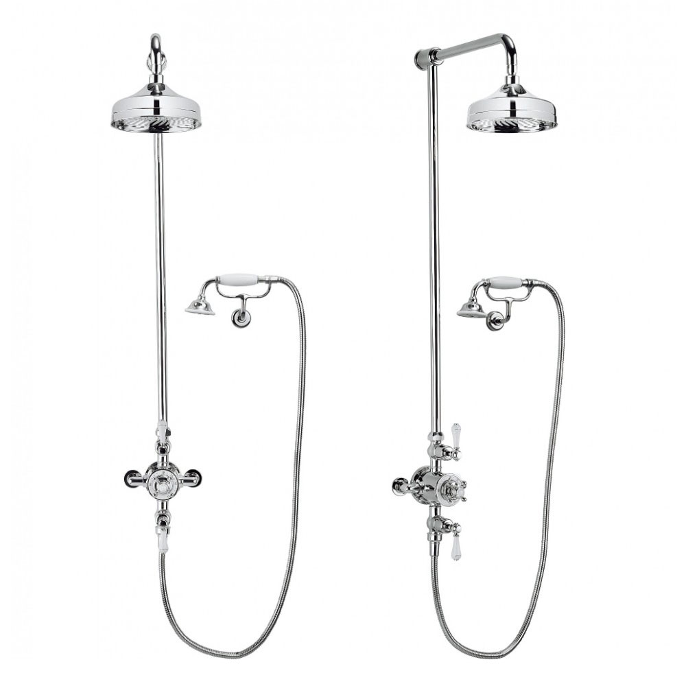 Crosswater - Belgravia Thermostatic Shower Valve with Fixed Head, Handset & Wall Cradle Profile Large Image