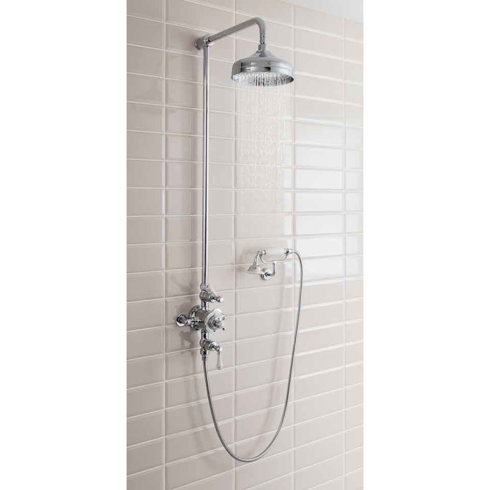 Crosswater - Belgravia Thermostatic Shower Valve with Fixed Head, Handset & Wall Cradle Standard Large Image