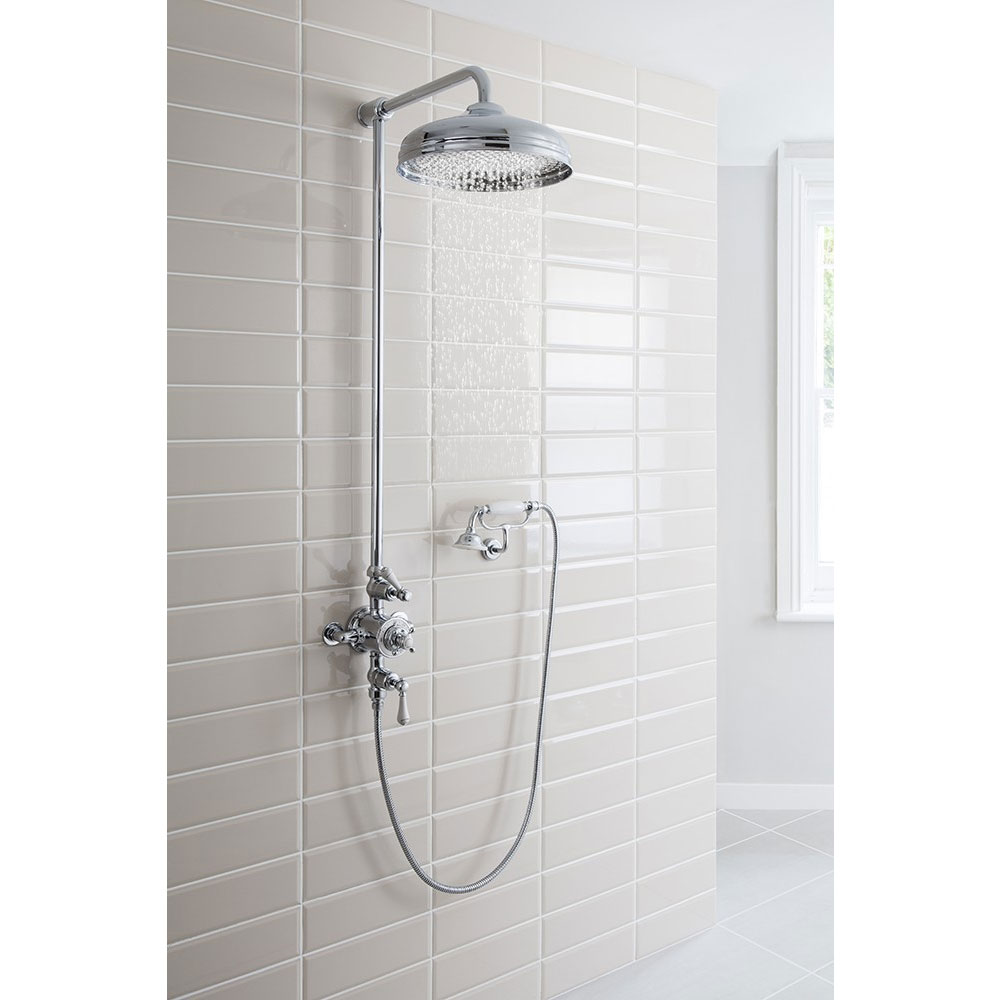 Crosswater - Belgravia Thermostatic Shower Valve with Fixed Head, Handset & Wall Cradle profile large image view 6