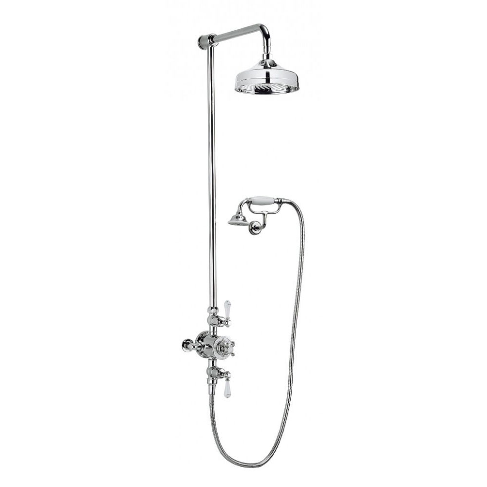 Crosswater - Belgravia Thermostatic Shower Valve with Fixed Head, Handset & Wall Cradle Large Image