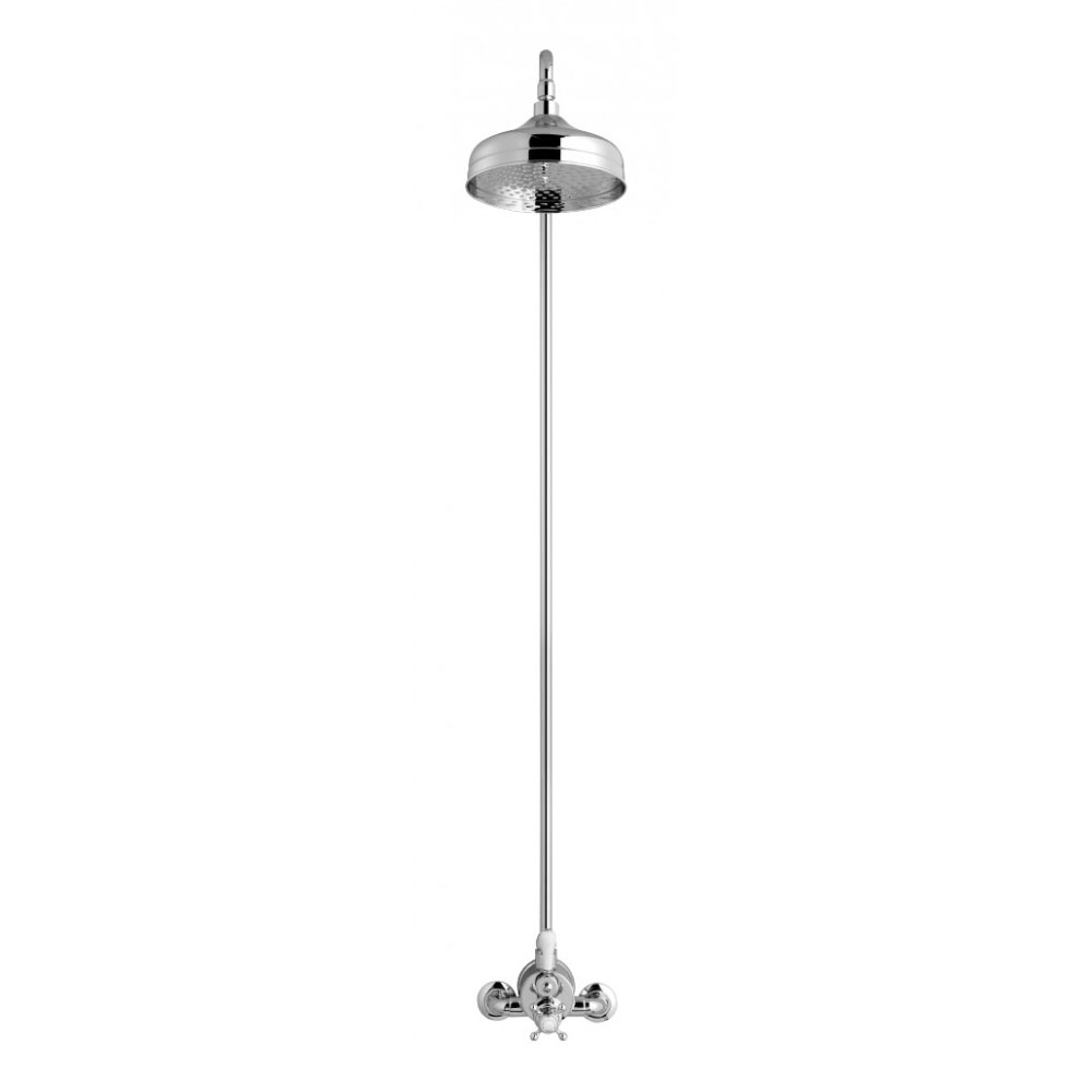 Crosswater - Belgravia Compact Thermostatic Shower Valve with Fixed Head - Chrome Profile Large Image