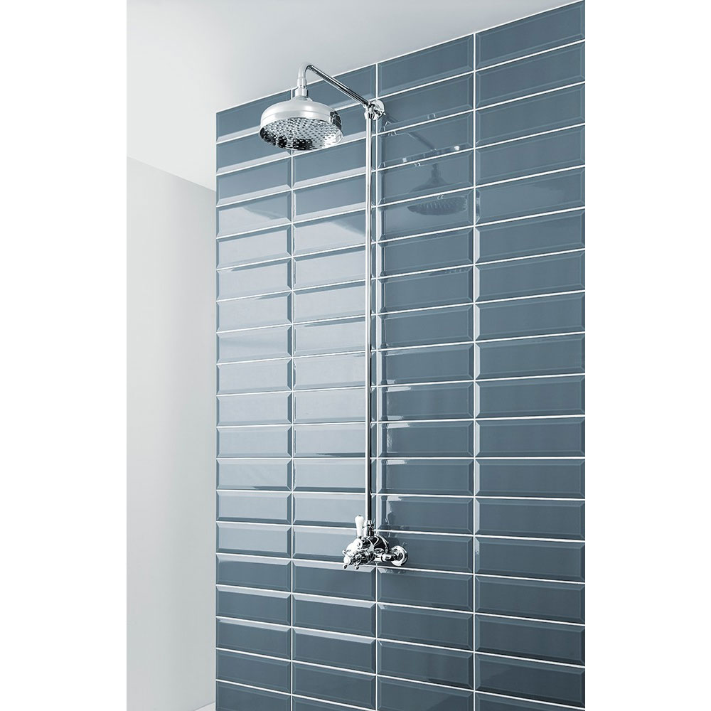 Crosswater - Belgravia Compact Thermostatic Shower Valve with Fixed Head - Chrome Feature Large Image