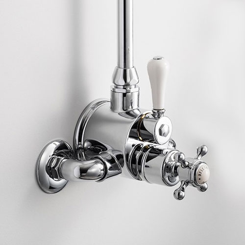 Crosswater - Belgravia Compact Thermostatic Shower Valve with Fixed Head & Soap Dish - Chrome Profile Large Image