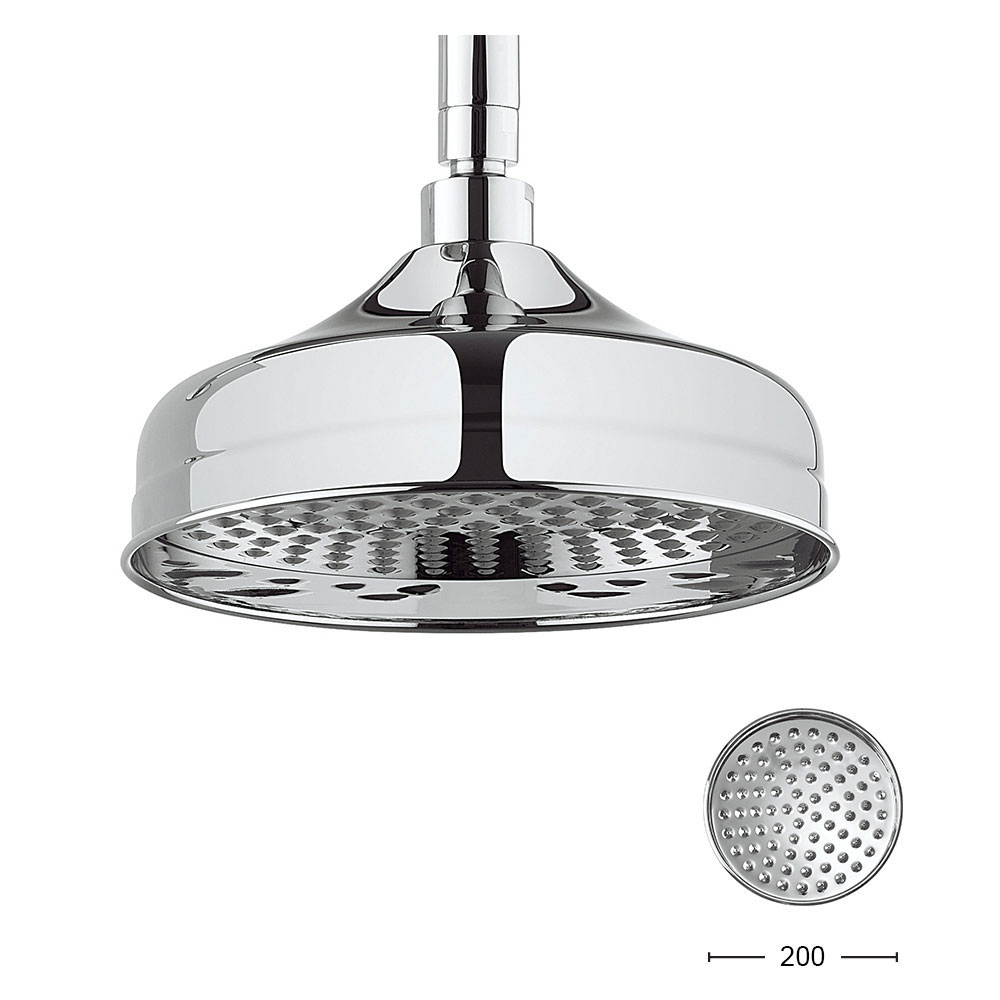 Crosswater - Belgravia Compact Thermostatic Shower Valve with Fixed Head & Soap Dish - Chrome Feature Large Image