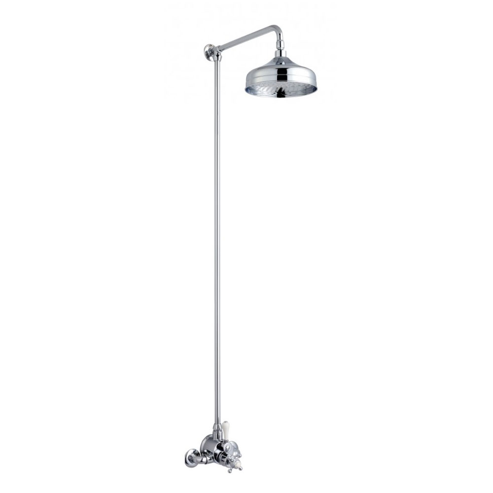 Crosswater - Belgravia Compact Thermostatic Shower Valve with Fixed Head - Chrome Large Image