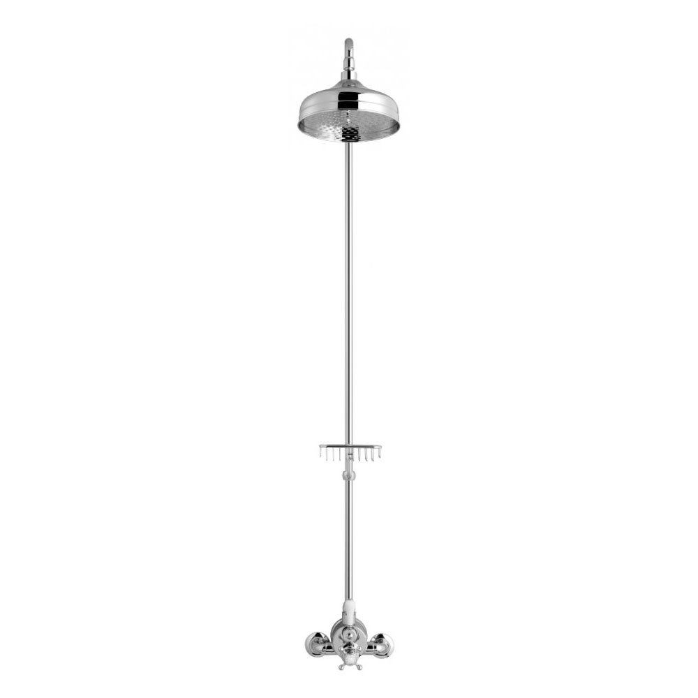 Crosswater - Belgravia Compact Thermostatic Shower Valve with Fixed Head & Soap Dish - Chrome Standard Large Image