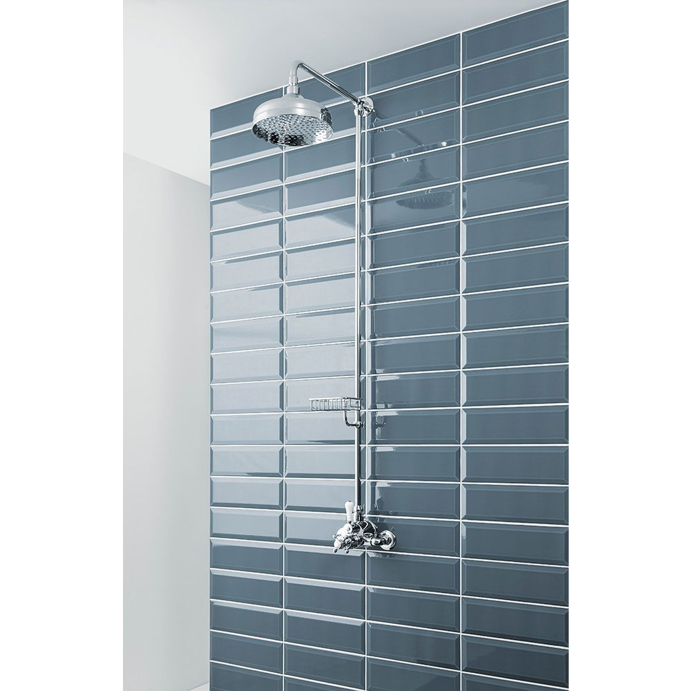 Crosswater - Belgravia Compact Thermostatic Shower Valve with Fixed Head & Soap Dish - Chrome In Bathroom Large Image