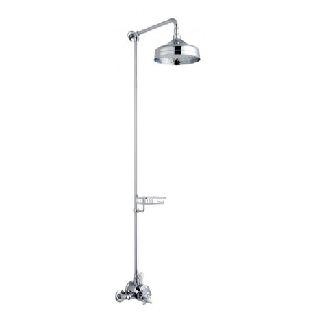 Crosswater - Belgravia Compact Thermostatic Shower Valve with Fixed Head & Soap Dish - Chrome