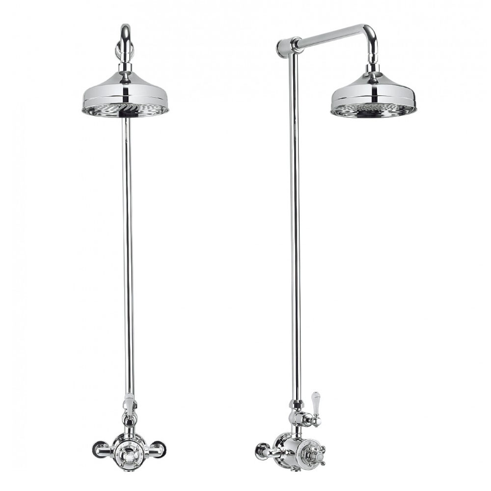 Crosswater - Belgravia Thermostatic Shower Valve with Fixed Head profile large image view 2