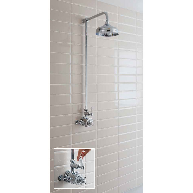 Crosswater - Belgravia Thermostatic Shower Valve with Fixed Head profile large image view 4