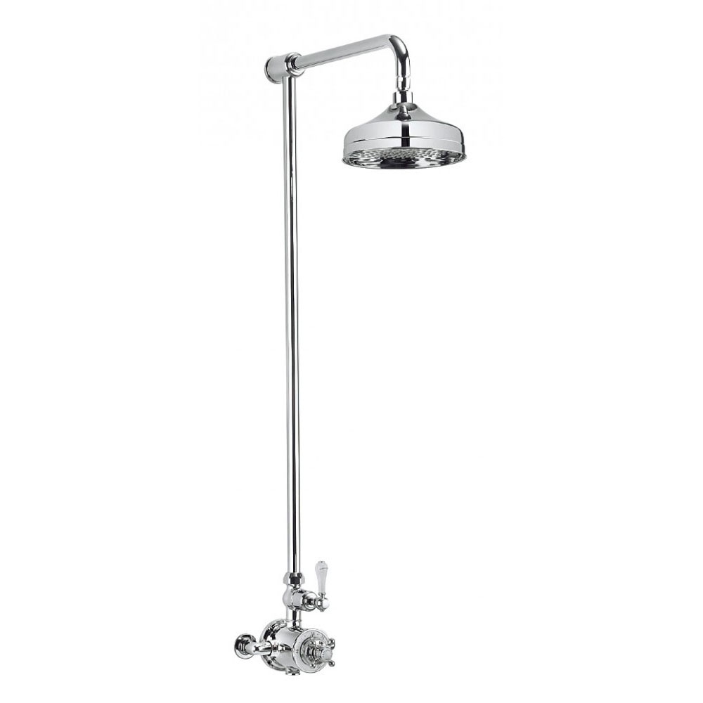 Crosswater - Belgravia Thermostatic Shower Valve with Fixed Head Large Image