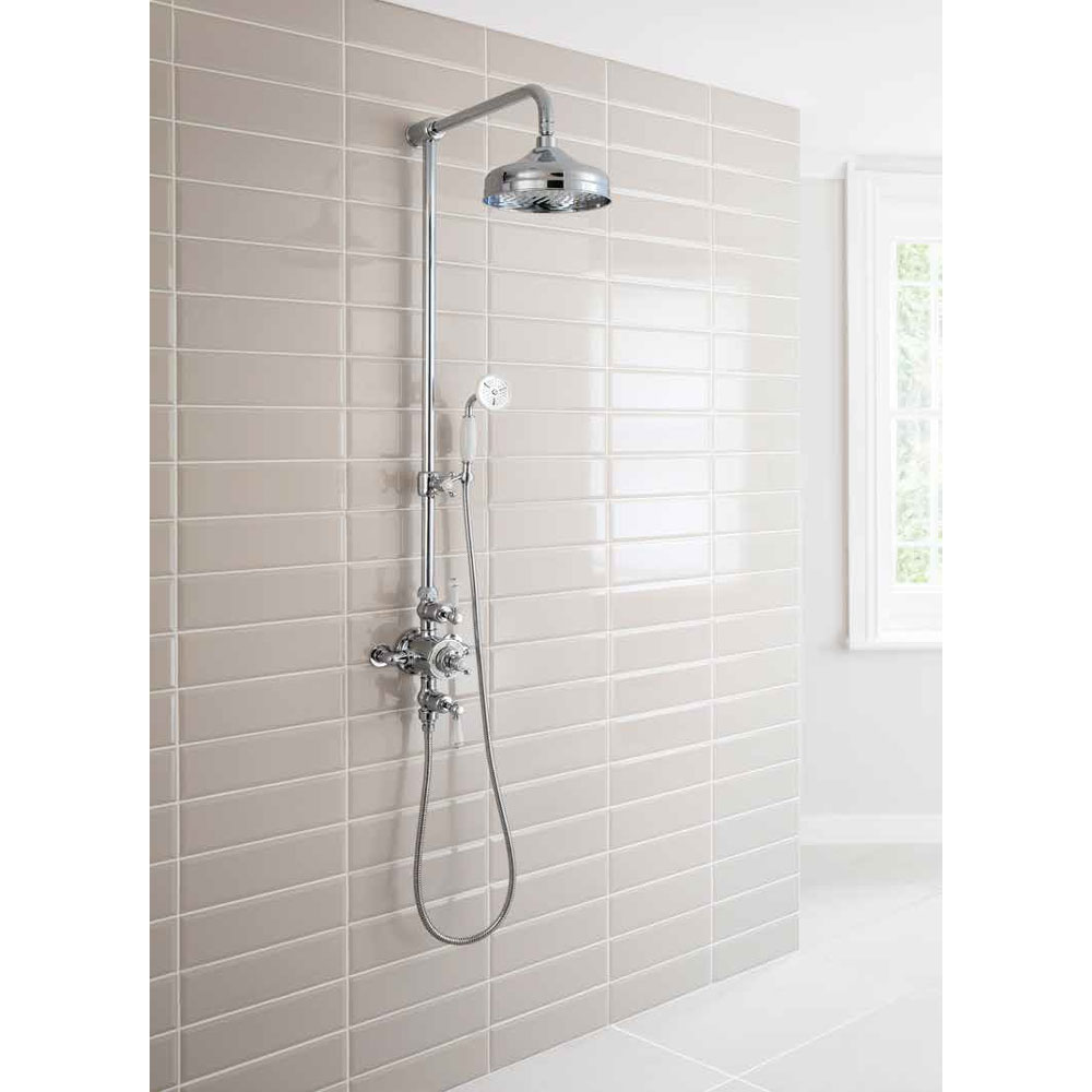 Crosswater - Belgravia Thermostatic Shower Valve with Fixed Head, Slider Rail & Handset profile large image view 4