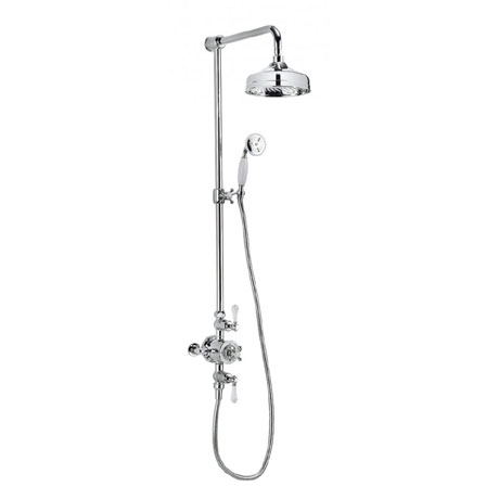Crosswater - Belgravia Thermostatic Shower Valve with Fixed Head, Slider Rail & Handset
