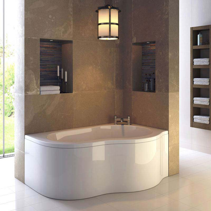Ultra Estuary Eternalite Corner Shower Bath (Right Hand) - BES002 Large Image