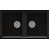 Reginox Best 450 2.0 Bowl Granite Kitchen Sink - Black profile small image view 1
