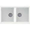 Reginox Best 450 2.0 Bowl Granite Kitchen Sink - White profile small image view 1