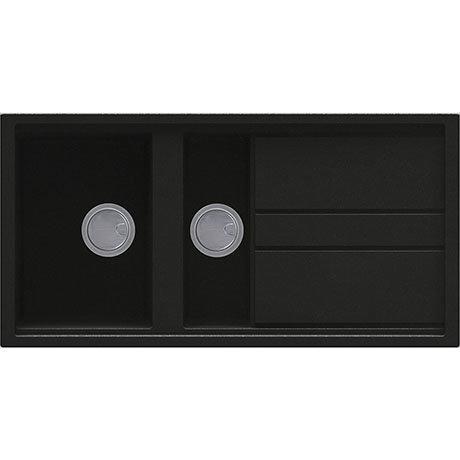 Reginox Best 475 1.5 Bowl Granite Kitchen Sink - Black